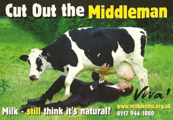 Une publicité de Viva contre la consommation de lait de vache