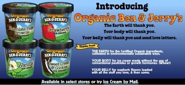 les glaces soi-disant bio de Ben & Jerry's