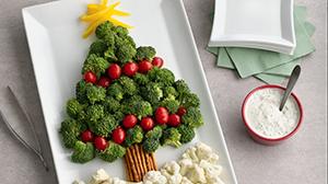 Un sapin de Noël en brocolis