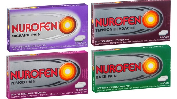 Packaging Nurofen couleur