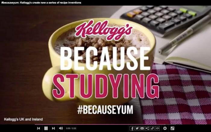 Et aux étudiants, ils conseillent de boire un chocolat chaud aux Coco Pops pendant une séance de travail…